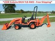 2008 Kubota BX24 TLB 4WD,  23hp - Free Shipping