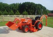 2005 Kubota B7510 4WD Loader,  Mower,  Auger 140 Hrs