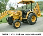 2006 JOHN DEERE 110 Tractor Loader Backhoe 4WD