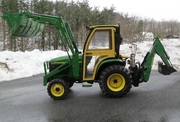 2004 John Deere 4310 4x4 Loader Backhoe Cab